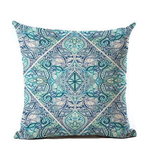Vintage Nordic Flower Cushion Cover Bohemian Style Pillowcases Colorful Geometric Sofa Seat Home Decorative Throw Pillow Case