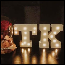 Letters Letters LED Room Decoration Wooden White Light 26 Birthday Christmas Gift