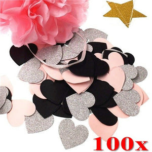 100pcs Romantic Wedding Confetti Confetti Scatters Five-pointed Stars Wedding Favors Wedding Decorations for Tables for Wedding