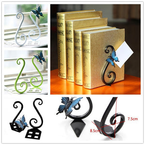 Pair of Beautiful Butterfly Nonskid Bookends Bookrack Book Racks