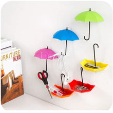 3Pcs Colorful Umbrella Wall Hook Hair Pin Key Holder Organizer Decor Novelty