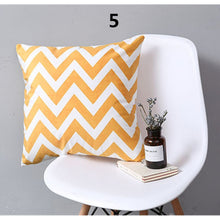 Romantic Grey Geometric Print Pillow Cover Colorful Simple Stripe Sofa Cushion Cover Living Room Bedroom Decor Polyester Pillow