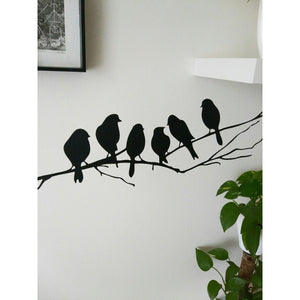hot  sale  new  fashion  Removable Birds Pattern Branch Wall Stickers Home Art Decor Living Room DIY Vinyl Decals  Finished Size