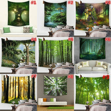 Fantastic Fairy Tree House Wall Art Home Decor Durable Polyester Tapestry 59''x51''