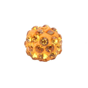 50pcs 10MM DIY Clay Disco Ball Pave Crystal Shamballa Beads for Jewelry   HOM