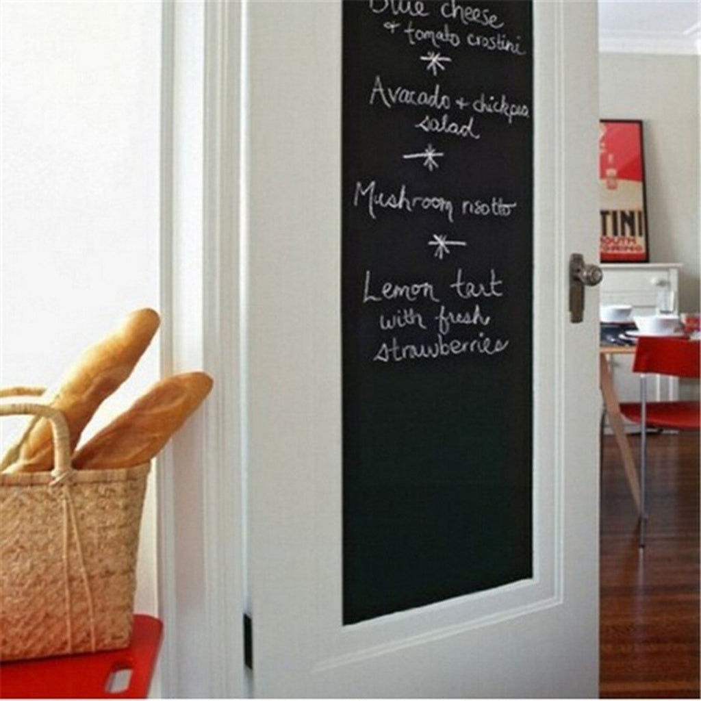 PAPATEES  4PCS Black Wall Sticker For Kids Rooms Chalk Board Blackboard Stickers Removable Vinyl Draw Decor Mural Decals Art Cha