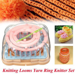 5 Size Long Ring Knitting Looms Yarn Long Ring Knitter Craft To Sock Scarf Hat Sweaters