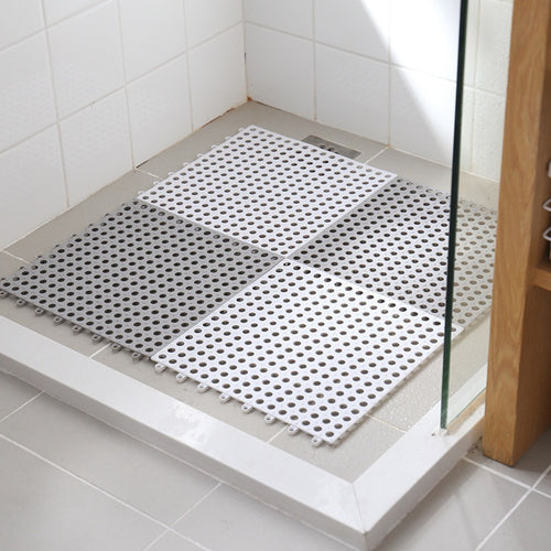 Tasteless Bathroom Tiled Floor PVC Mat Toilet Non-slip Mat Bath Shower Stall Foot Mat Kitchen Balcony Carpeted