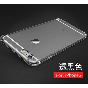 New Arrival Shockproof 360 TPU Silicone Protection Transparent Clear Case Cover For Iphone 5  5S 6 6S   Plus 7 7 Plus iphone 8 i