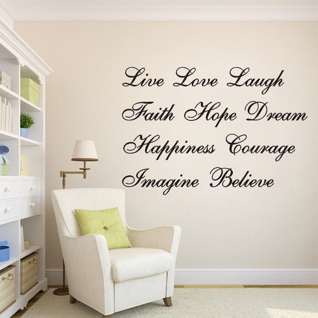 Removable Positive Letter Wall Sticker Art Decal Home Decor