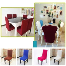 New Chair Covers Home Decorative Accessories Dining Chair Covers Spandex Stretch Dining Room Simple Chair Protector Slipcove