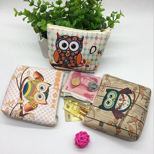 New Cartoon Owl Women Cute PU Coin Purse Organizer Bag