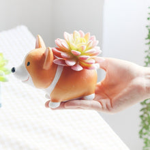 Gshopper Stylish Micro Pot Landscape Welsh Corgi Dog Garden Plant Flower Pot Planter Succulent Rectangle Plant Storage Box Pot