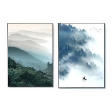 Simple Style Nordic Minimalist Decorative Painting Forest Murals Modern Frescoes