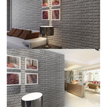 3D Brick Pattern Wallpaper Bedroom Living Room Modern Wall Background TV Decor Wallpaper (Size:60*30cm)