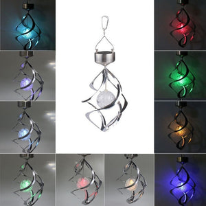 High Quality New Solar Spiral Wind Chime Waterproof Changing Romantic LED Light Balcony Courtyard Hanging For Outdoor Garden Top