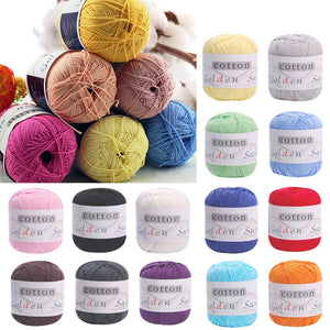 Children Baby kids Sweater hat scarf Natural Soft Cotton Hand Knitting Yarn Ball
