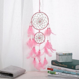 Pink Dream Catcher Girls Dreamlike Feather Dreamcatcher