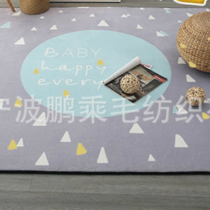 Nordic Style Floor Mat Non-slip Rug Kid Baby Soft Crawling Blanket Game Carpet Home Decor