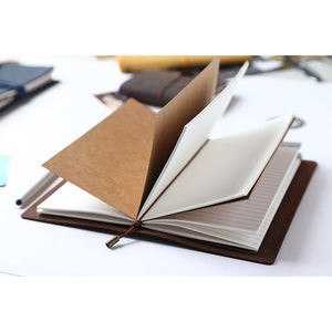100% Genuine Leather Vintage Style Traveler's Notebook Diary Journal Handmade Cowhide Notebook Set  High Quality