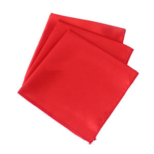 10Pcs Solid Color Square Polyester Napkin Hanky Pocket Handkerchiefs Wedding Party Banquet Decor 12inch