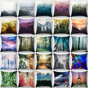 """Double-Sided Printing"" Natural Landscape Forest Cotton Linen Pillows Pillowcases Throw Pillows 45cm X 45cm (18""X18"")"