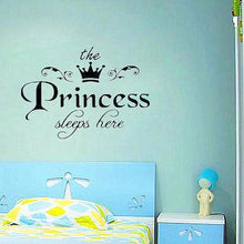 Removable Princess Sleeps Here Wall Stickers Art Vinyl Decals Girls Room Decoration