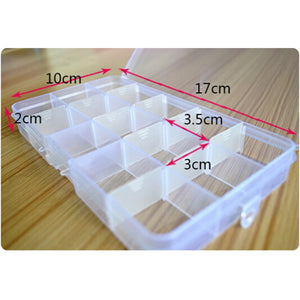 15 Grids Adjustable Jewelry Storage Case Box Craft Makeup Cosmetic Accessory Beads Candy Pills Organizer Organizador Container