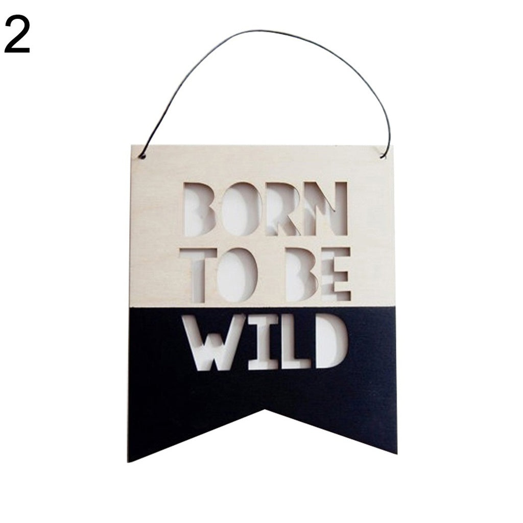 Beautiful Nordic Style Wooden Hollow Letter Design Wall Hanging Ornament Photography Decor