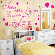 """Twinkle Twinkle Little Star"" Wall Art Quote Sticker Decal Nursery Children Room Decor"