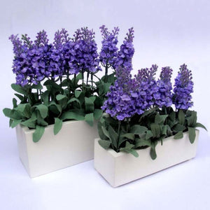 10 Heads Artificial Lavender Flowers Leaves Bouquet Home Wedding Garden Decor Fake Flowers KL