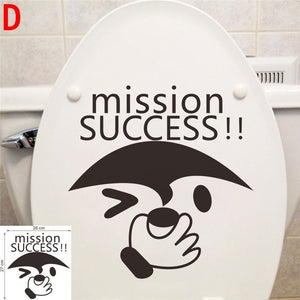 funny smile face with big eyes toilet stickers home decor bathroom wall stickers fashion decals