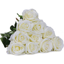 12 Pcs/set Real Touch Latex Roses Artificial Flowers for Wedding Home Decor