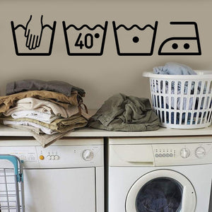 Washing Machine Removable Art Vinyl Mural Home Room Decor Wall Stickers,