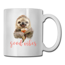 Sloth Drink Good Vibes 11 OZ Mug White Ceramic Funny Coffee Mug Tea Cup