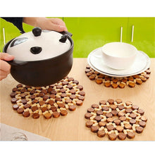 practical Kitchen tool Placemats Insulation Table Bamboo Heat Mat Coasters