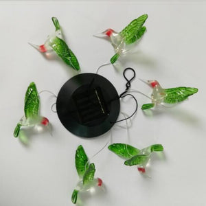 LED Color Changing Solar Energy Lamp Hummingbird Wind Chimes Light Outdoor Waterproof Hanging Lights Home Garden Decor