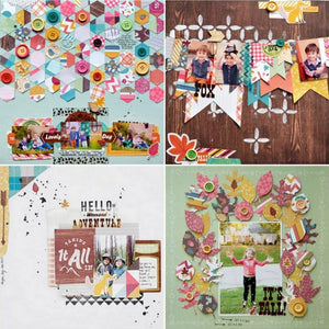 24PCS DIY Album Scrapbook Notebook Greeting Card Background Paper 6 Inch Single-Sided Pattern Paper PA1508 Pretty Lady
