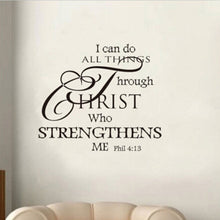 HOT Home 4:13 Philippians Words I Can Do All Things Quotes Bible Wall Decal Vinyl Sticker Christ