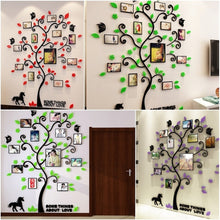 3D Innovative Acrylic Crystal Wall Stickers Photo Frame Tree  Sofa TV Decorative Backdrop