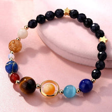 Brand New Bracelet Bangle Galaxy Planets Solar System Natural Stone Beads