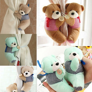 2x Fashion and Cute Bear Winne Window Curtain Holder Tieback Buckle Clamp Hook Fastener