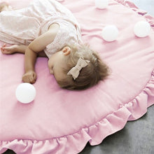 Children Baby Game Mat Solid Color Lace Play Crawl Round Mat Cart Air-conditioned Rug Tent Bed Valance Decoration