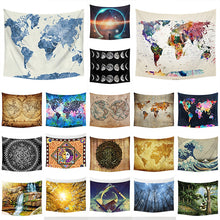 "1pc 51x59"" The World Map Wall Hanging Tapestry Home Fashion Sofa Decor Yoga Mat Bedspread Beach Towels"