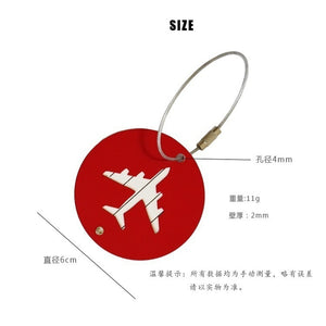 Vogue Aluminum Luggage Tag Vintage Card Luggage Personality  Alloy Creative Creative Aircraft Luggage Card Aircraft Boarding Lug