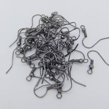 Hot 100Pcs Earring Hook Coil Ear Wire For Jewelry Making Fingdings