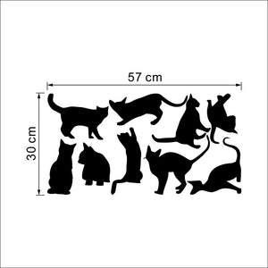 Nine Cats Wall Stickers Removable Vinyl Home DIY Art Decal Decor Kids Room Mural environmental