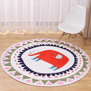 60cm Round Anti-slip Soft Carpets Living Room Floor Rug Bedroom Mat
