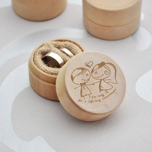 """I'm ready for a life-long commitment"" Delicate Wood Creative Ring Box Rustic Wedding Ring Jewelry Box Valentine's Day Gift for"