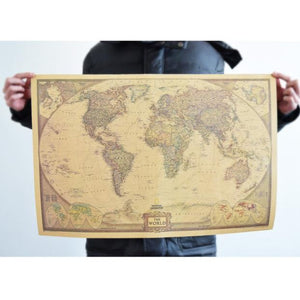Pocketshopping Vintage Retro Print Map Kraft Paper Antique Poster Wall Sticker Wall Decor